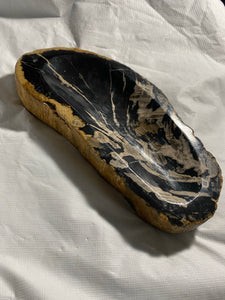 "Decorative ""Petrified"" Fossil Wood Bowl #4 - Fossil Daddy"
