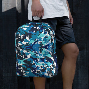 Blue Dinosaur Camo Backpack - Fossil Daddy