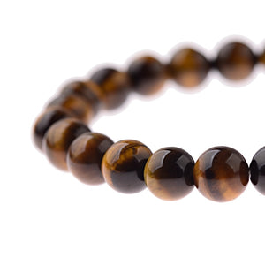 Classic Charm Natural Tiger Eye Stone Beas Bracelet Men Black Lava Energy Balance Bracelet For Women Male Pulseira Bileklik - Fossil Daddy