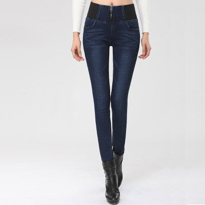 6a2abede49e5b New 2017 winter new plus velvet thick high waist stretch skinny warm jeans  ...