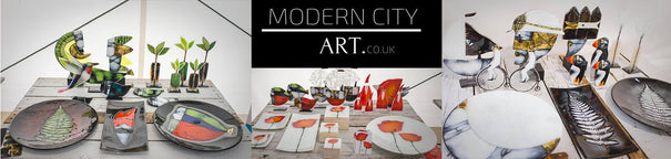 Modern City Art Handcrafted Glass Studio