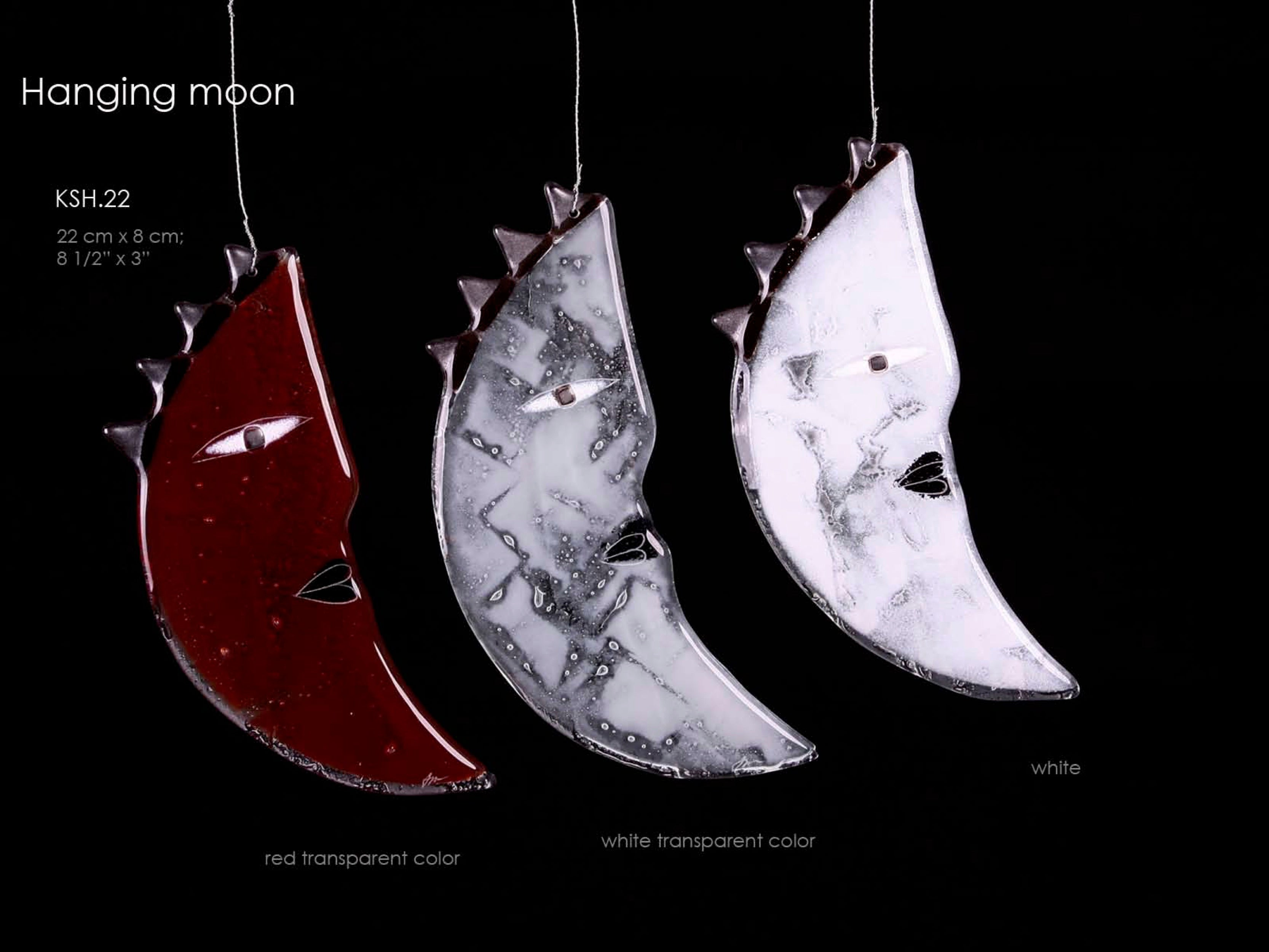 Moon hanging made from glass, unique design perfect for present idea from Modern City Art