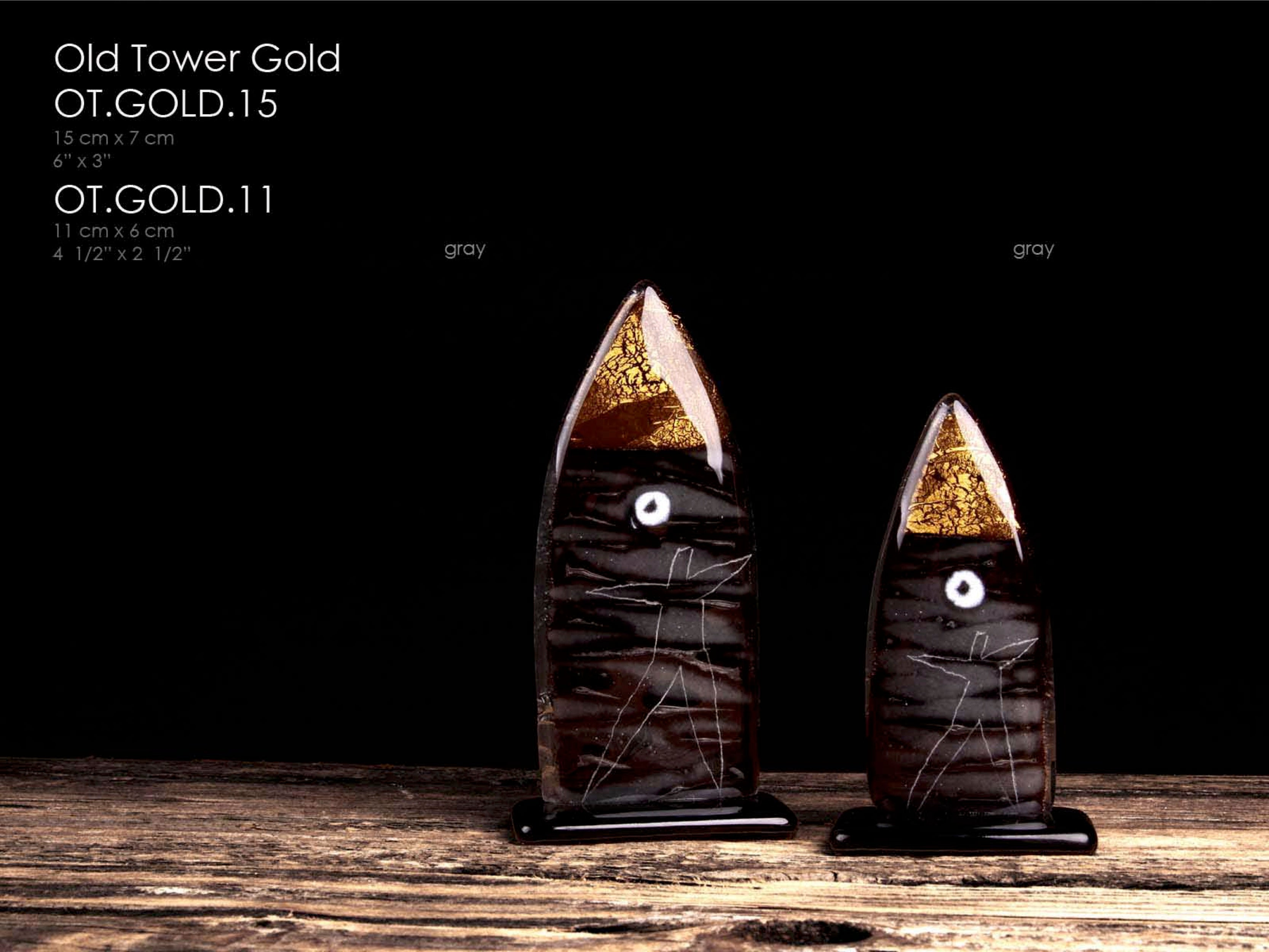 Old tower Gold 23 3/4 carat