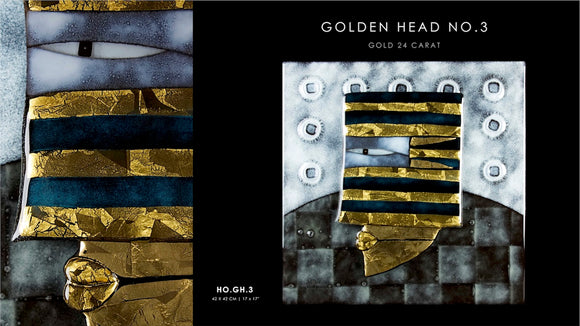 Golden Head no.3 with Gold 24 carat