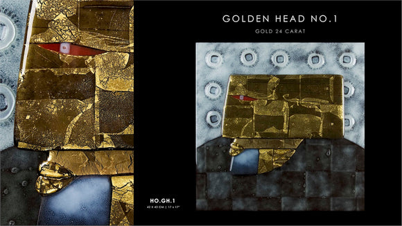 Golden Head no.1 with Gold 24 carat
