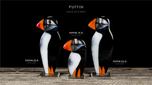 Puffin with 23 3/4 gold element