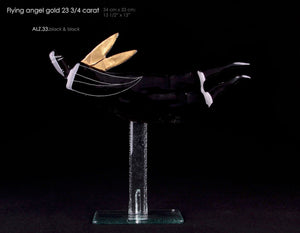 Angel Flying Statue with 23 3/4 carat gold wings. Best seller.