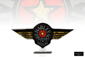 Harley Davidson Star statue with 24 cart gold