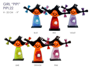 "Girl ""PIPI"" made from glass"