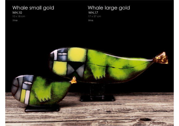 Whale Gold Statuette, with 23 3/4 carat gold