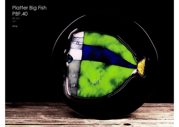Big Fish Platter, handcrafted with 23 3/4 carat Gold