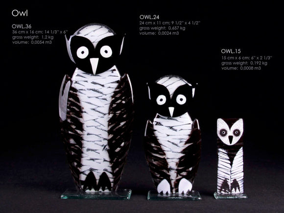 OWL handcrafted made from glass