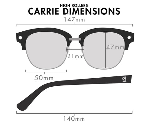 7f87905b71 Carrie Polarized High RollerBlack Gold
