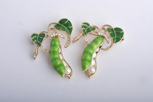 Green Pea Enamel Pin