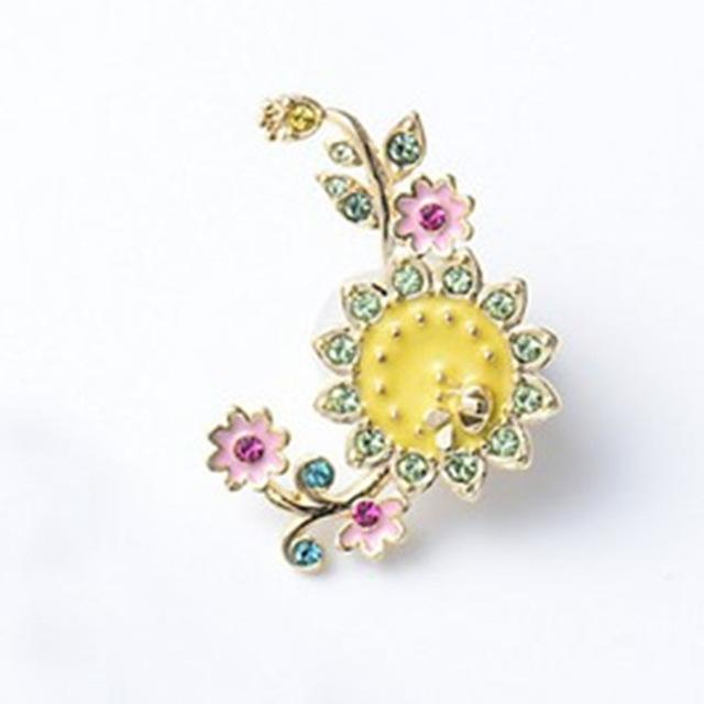 Yellow and Pink Flower Enamel Pin