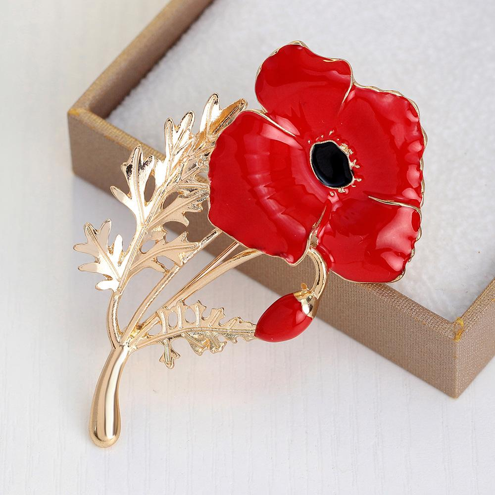 Red Flower Enamel Pin
