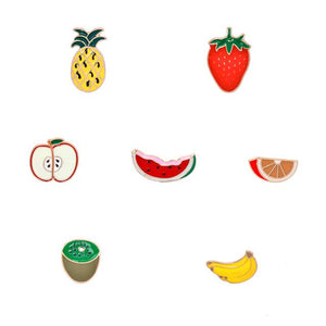 Fruity Enamel Pin Set