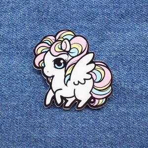 Rainbow Pony Enamel Pin