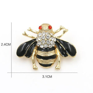 Red Bee Enamel Pin