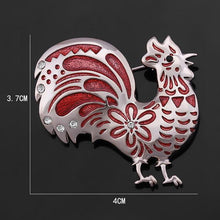 Colourful Chicken Enamel Pin