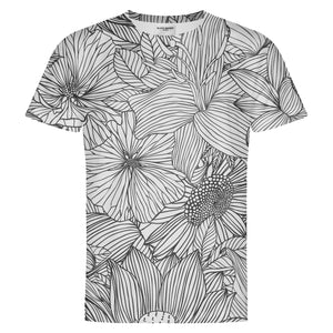 B&W Flowers T-Shirt