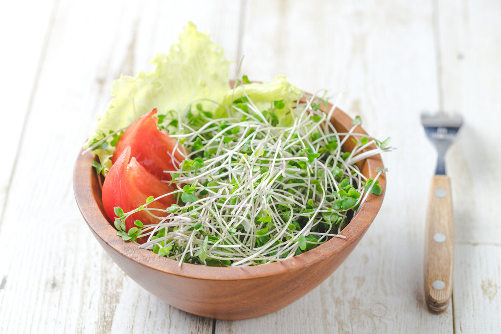 Broccoli sprout salad is one way to get sulforaphane