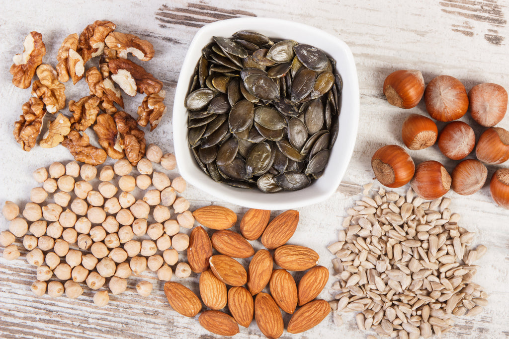 seeds and nuts with zinc