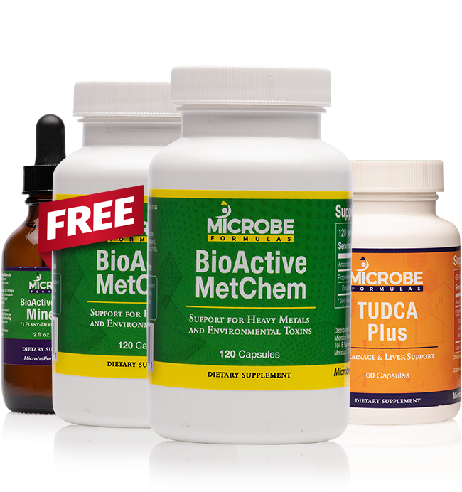 Heavy Metal & Environmental Toxin Detox Kit (+ FREE bottle of MetChem, + FREE Shipping)