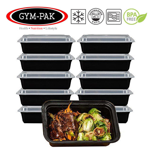 Pack of 10 Meal Prep Food Containers