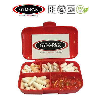 Shaker Bottle And Pill Case (light Weight But Heavy Duty) GYM-PAK