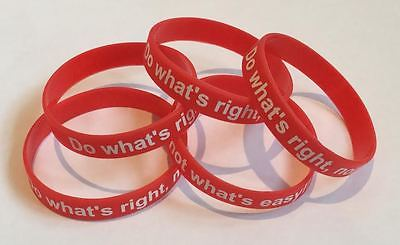 Motivational Quotes Bracelet (RED) Personal Development Wristband GYM-PAK