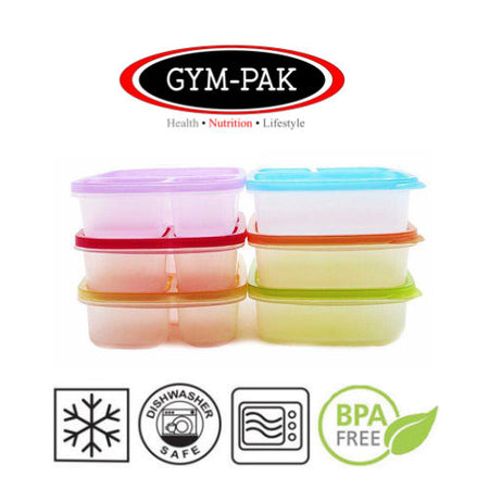Meal prep 3 Compartment Round Food Containers x 10 GYM-PAK(Strongest containers)