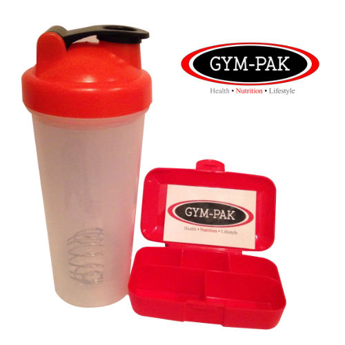 10 x 16oz Meal Prep containers, Protein Shaker Bottle And Pill Case - GYM-PAK