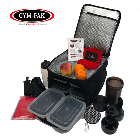 GYM-PAK 20 LITRE Gym duffle bag - black, red, dark grey, light grey