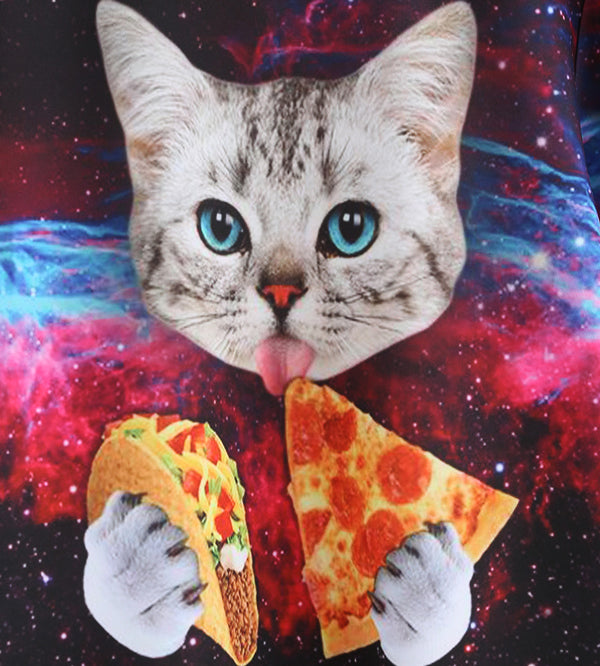 Hungry pizza cat