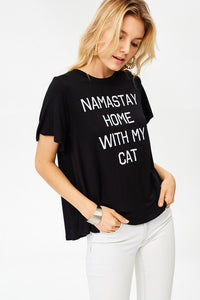 Namastay Home With My Cat Tee Women's Tee