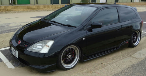 black honda with tinted window