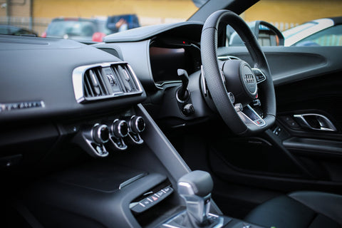 black car interior