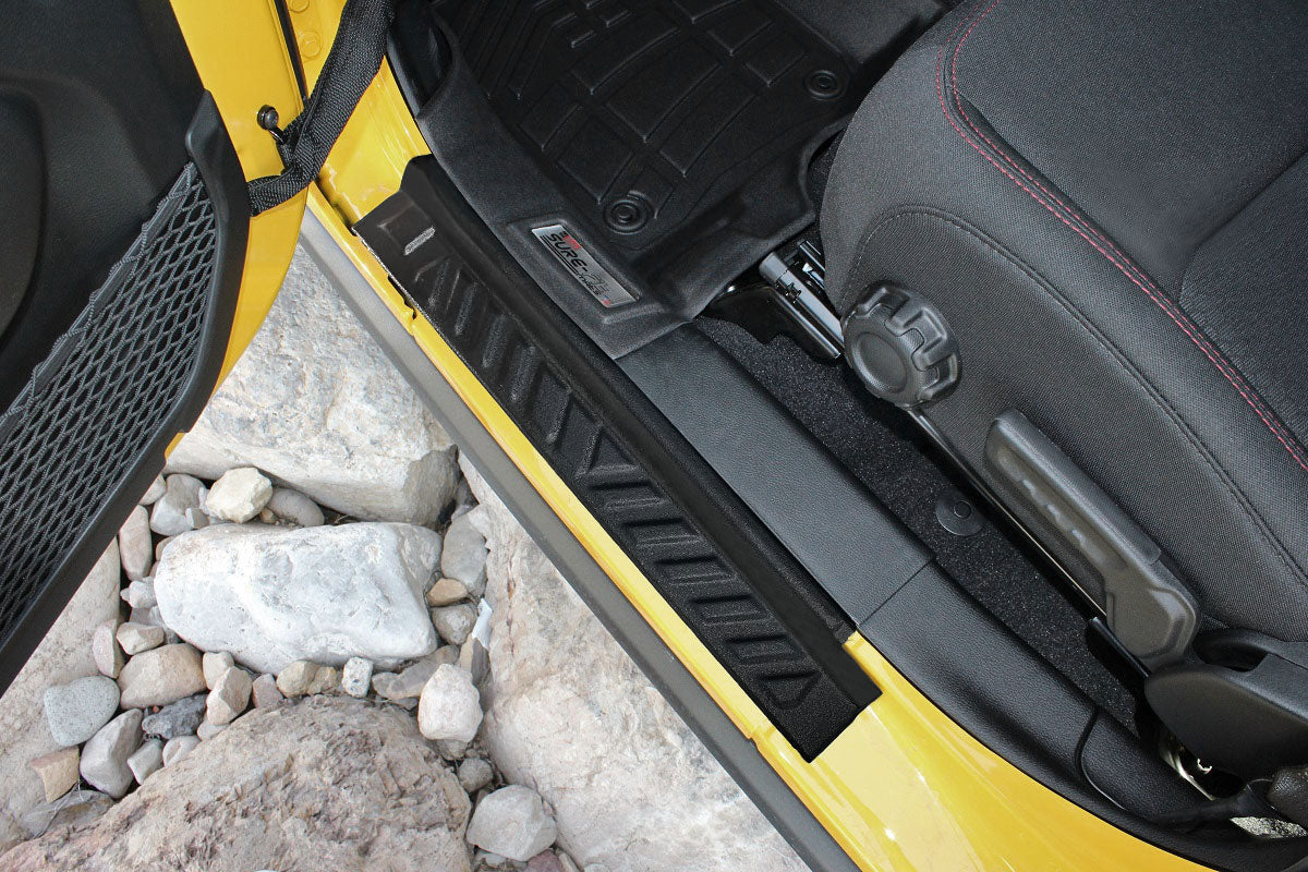 2019 Jeep Wrangler Black Door Sill Guards