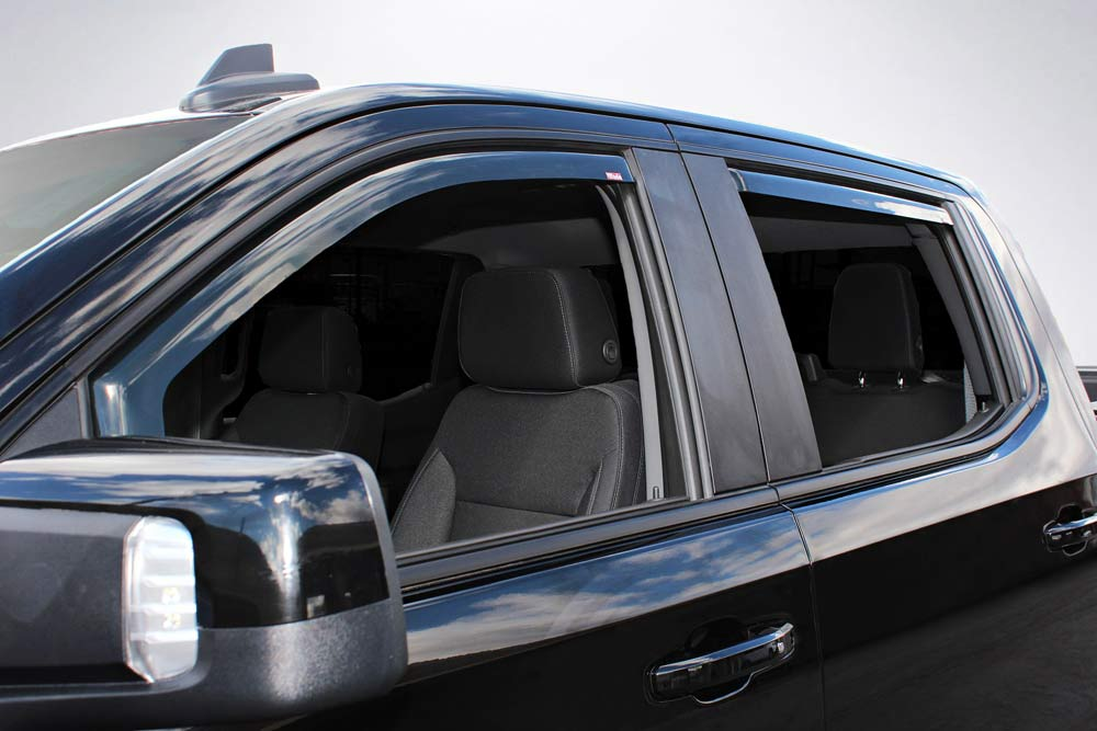 Wade 4-Piece In-Channel Wind Deflectors for 2019 Chevrolet Silverado 1500 Crew Cab