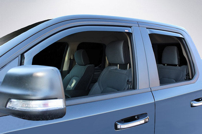 In-Channel Wind Deflectors for 2019 Dodge Ram 1500 Quad Cab