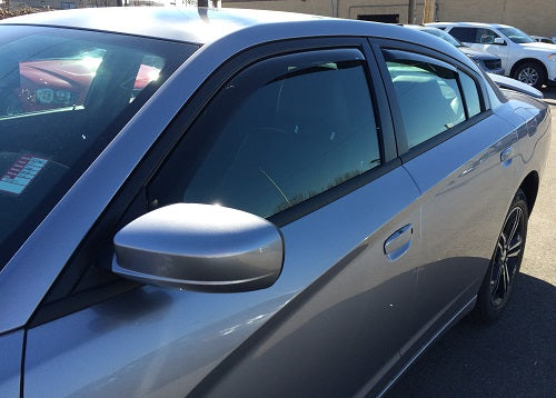 2013 Dodge Charger In-Channel Wind Deflectors