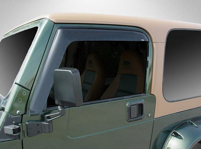 2004 Jeep Wrangler Slim Wind Deflectors