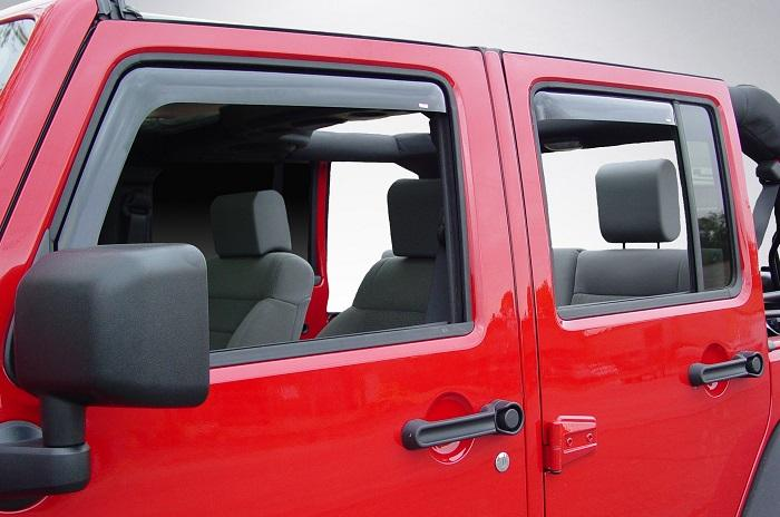2014 Jeep Wrangler In-Channel Wind Deflectors