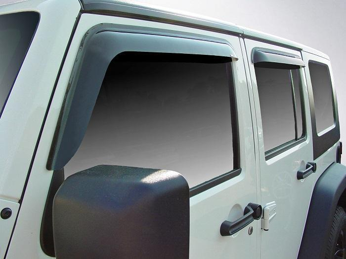 2012 Jeep Wrangler Slim Wind Deflectors