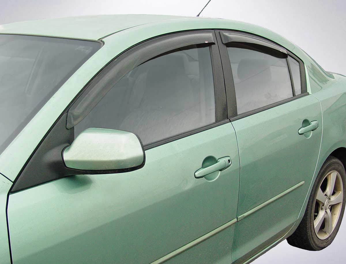 2008 Mazda 3 Slim Wind Deflectors