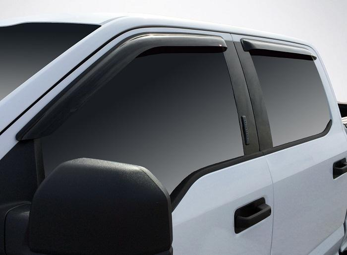 2017 Ford Super Duty Slim Wind Deflectors