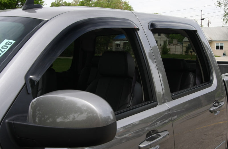 2009 Mitsubishi Raider Slim Wind Deflectors