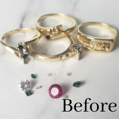 inherited rings melted down into new ring