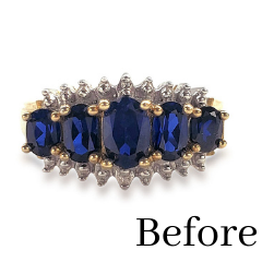 redesigned sapphire ring